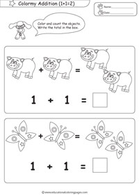 more educational coloring pages and worksheets - Coloring Pages Addition Facts